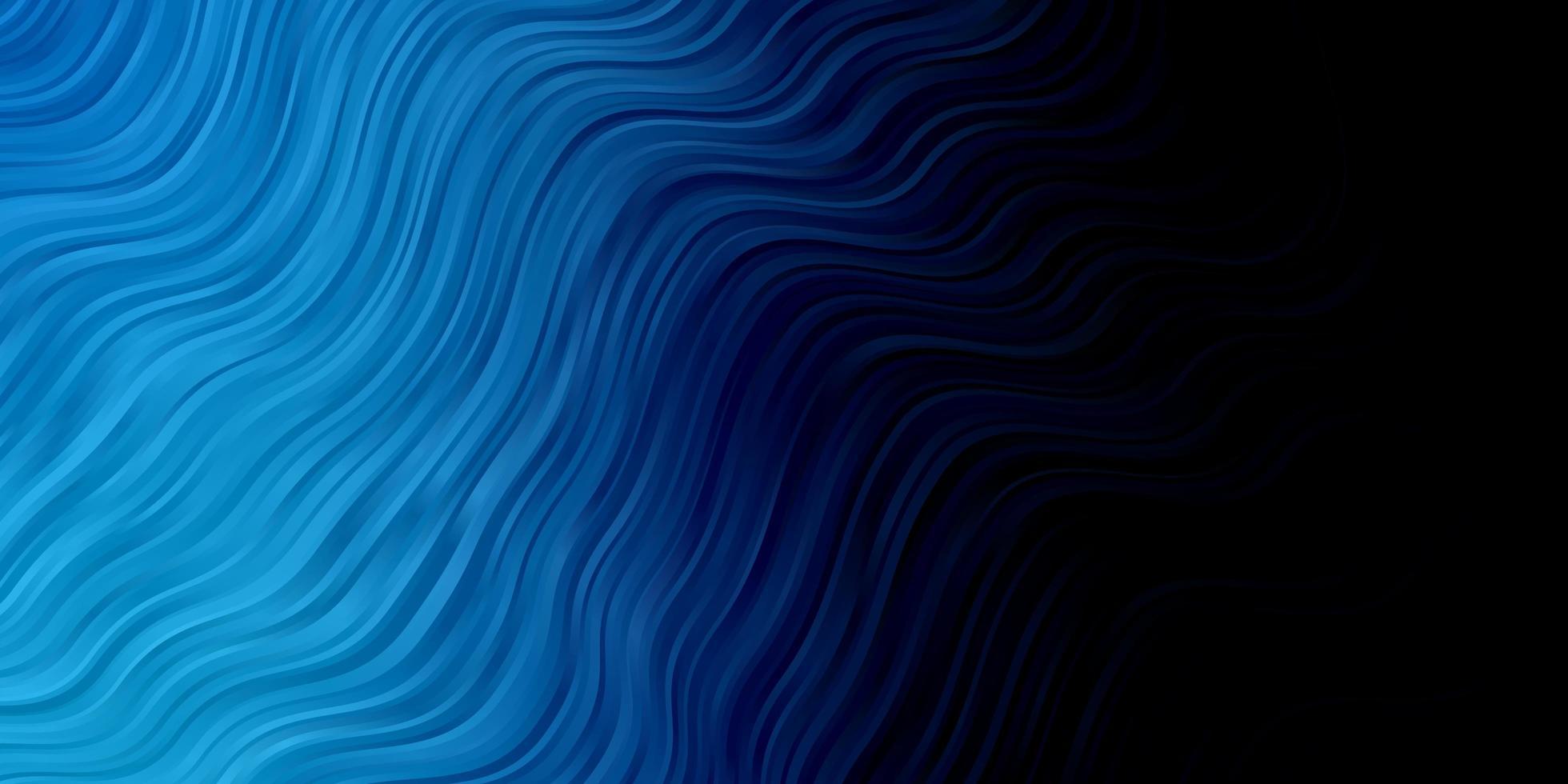 diseño de vector azul oscuro con líneas torcidas.