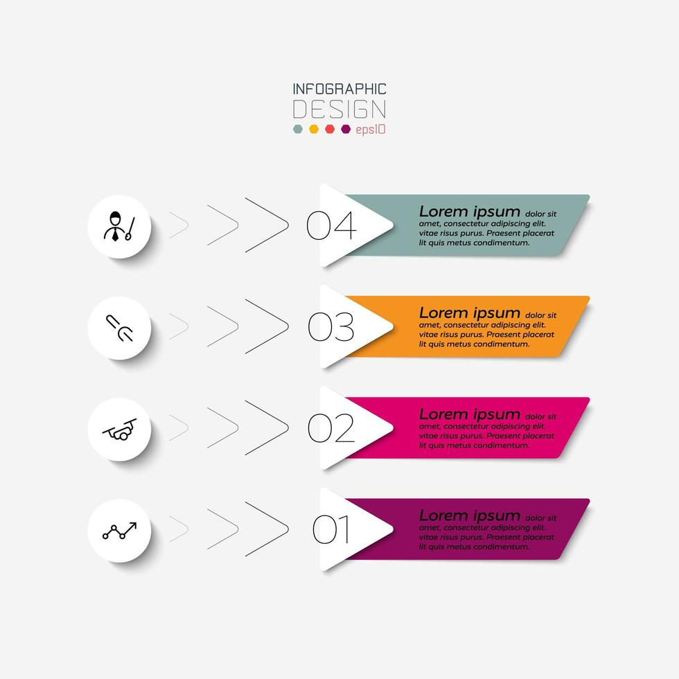 Numbered label infographic tag vector