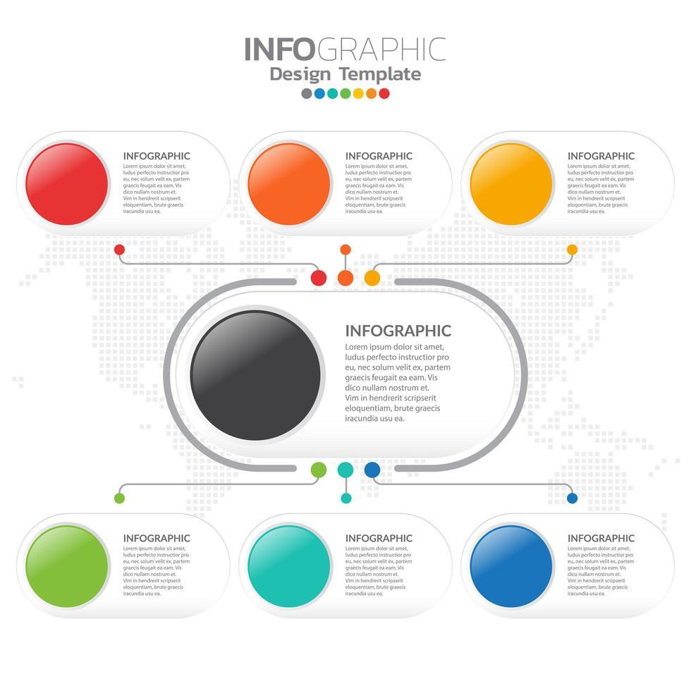Flat management chart infographic design template. vector