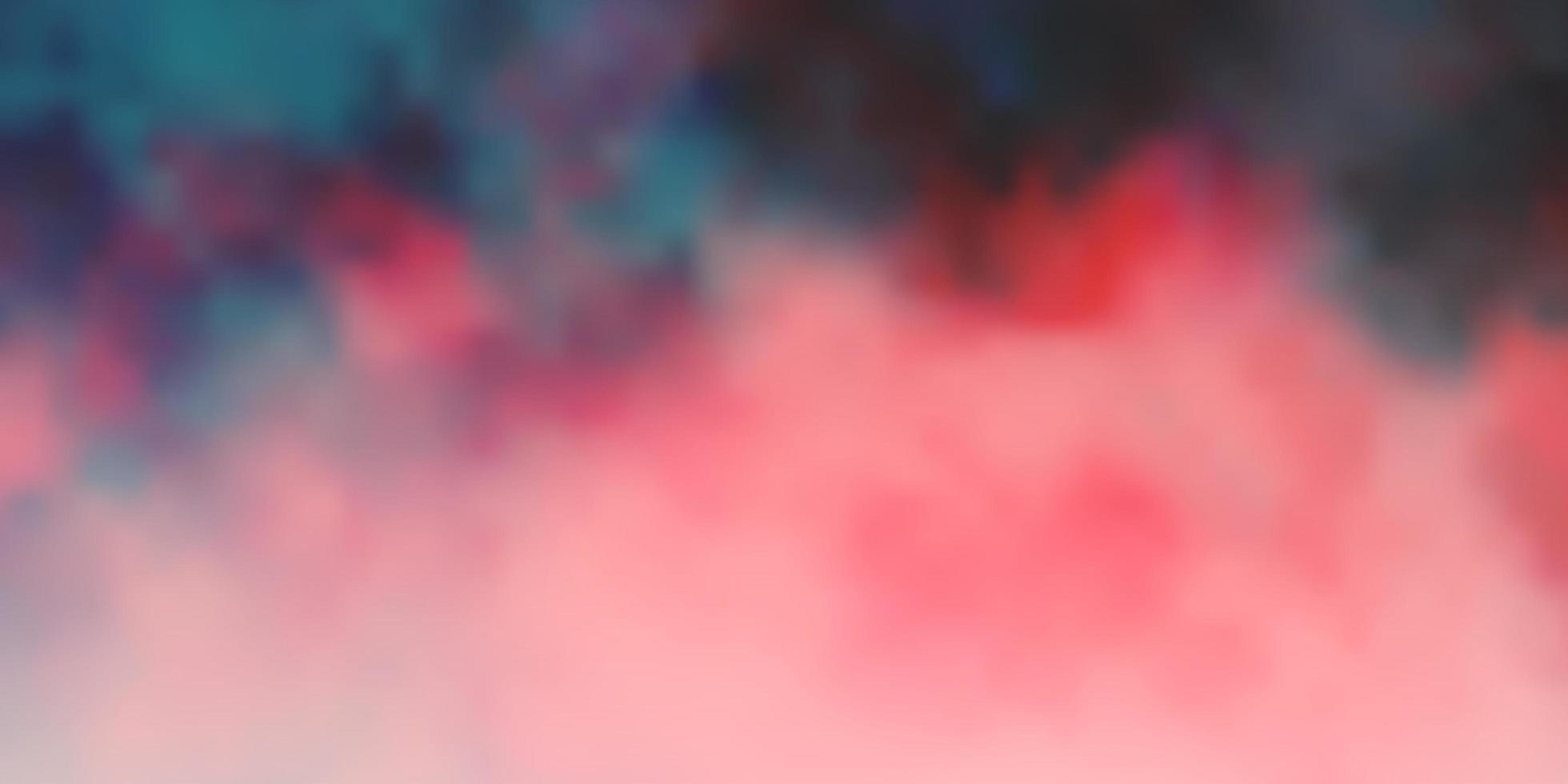 Dark Red vector template with sky, clouds.
