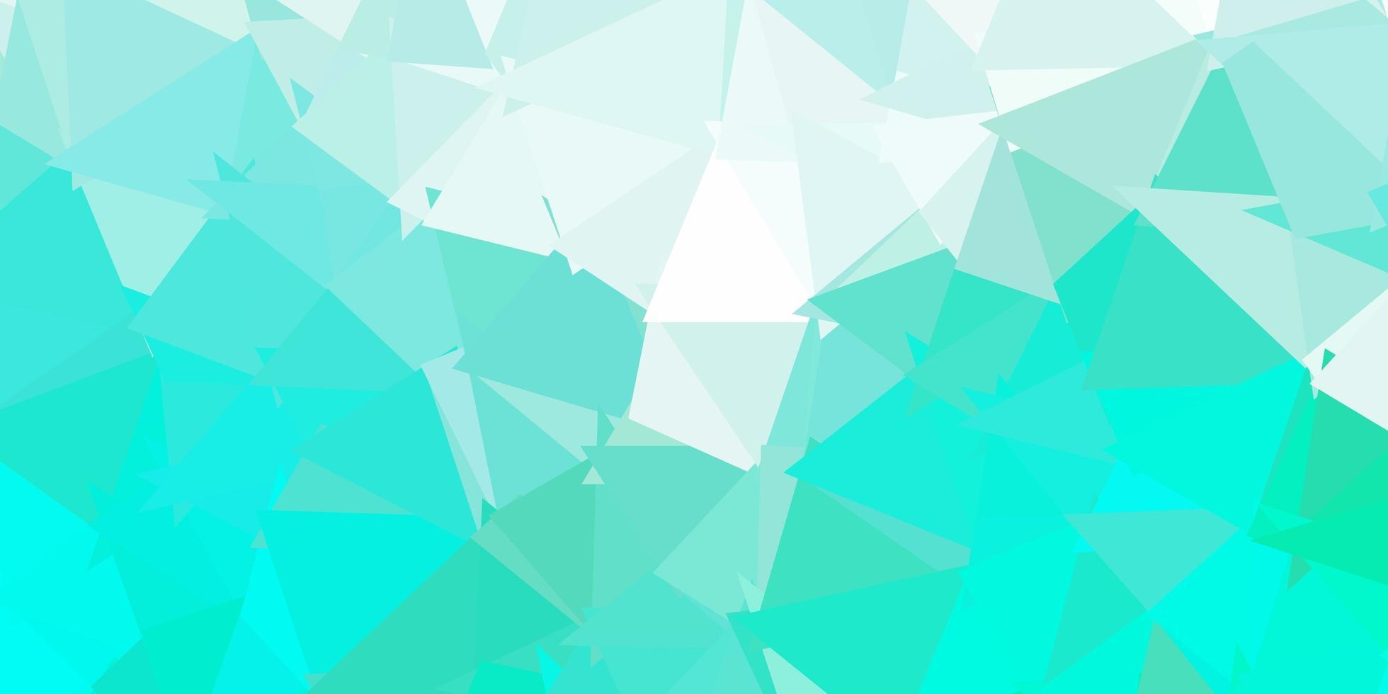 papel tapiz poligonal geométrico vector verde claro.