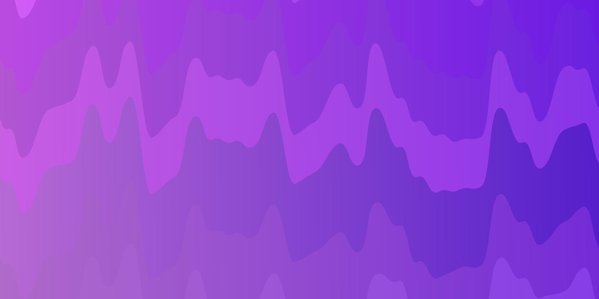 diseño de vector de color púrpura claro con líneas torcidas.