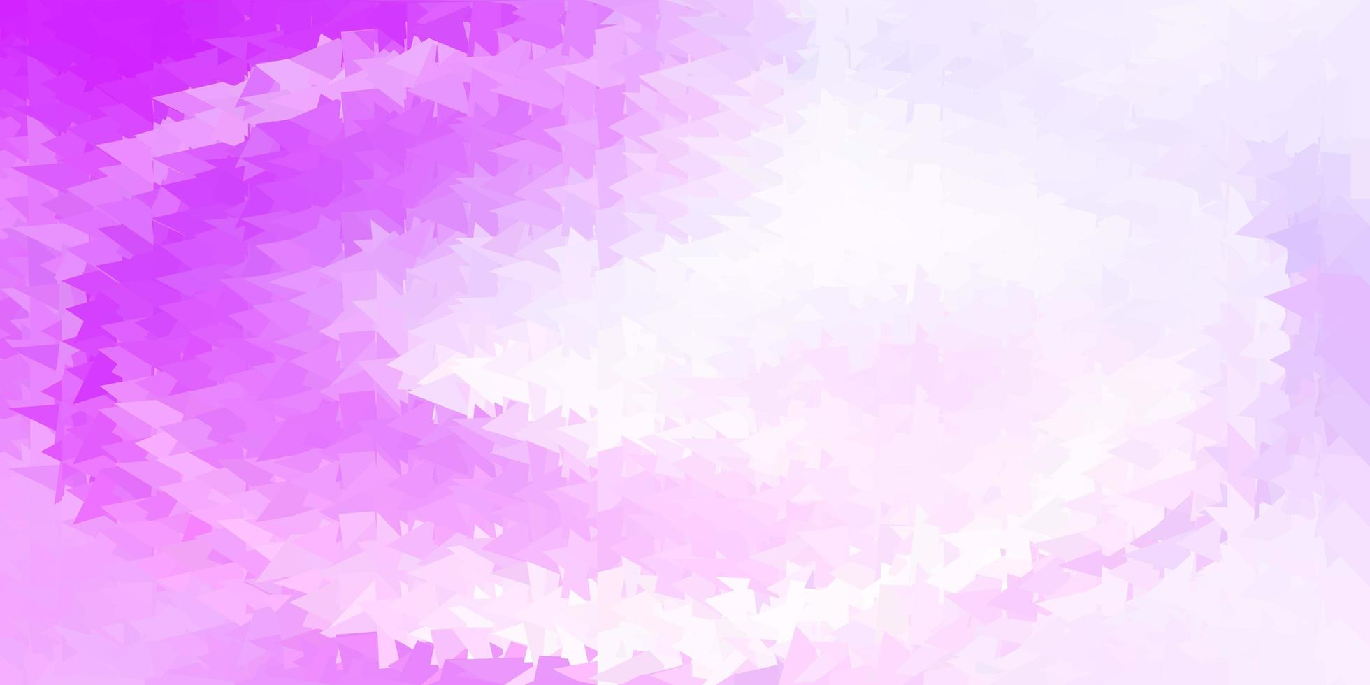 patrón poligonal de vector púrpura claro.