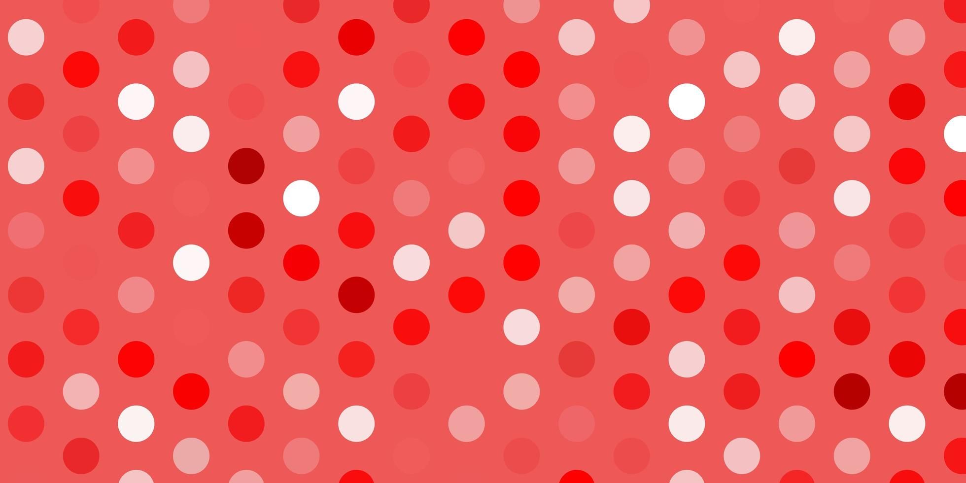 Light red vector background with bubbles.