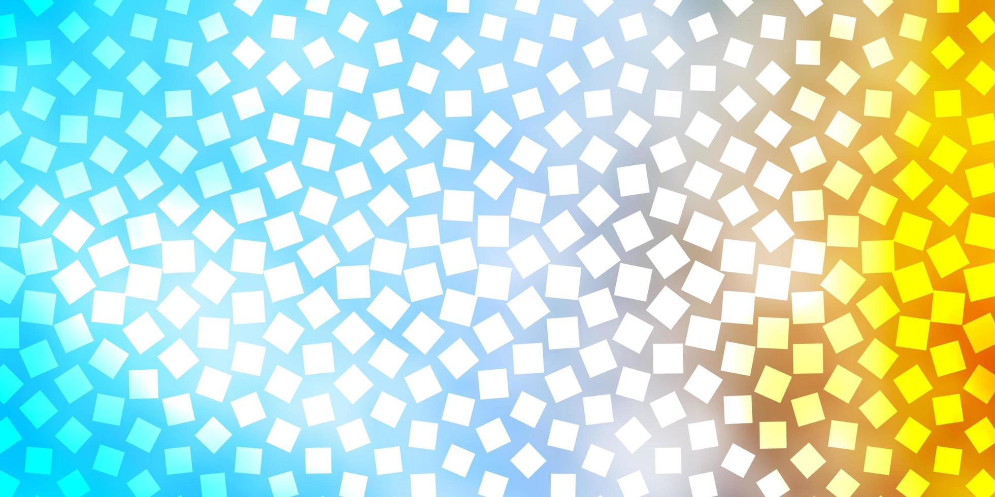 Light Blue, Yellow vector pattern in square style.