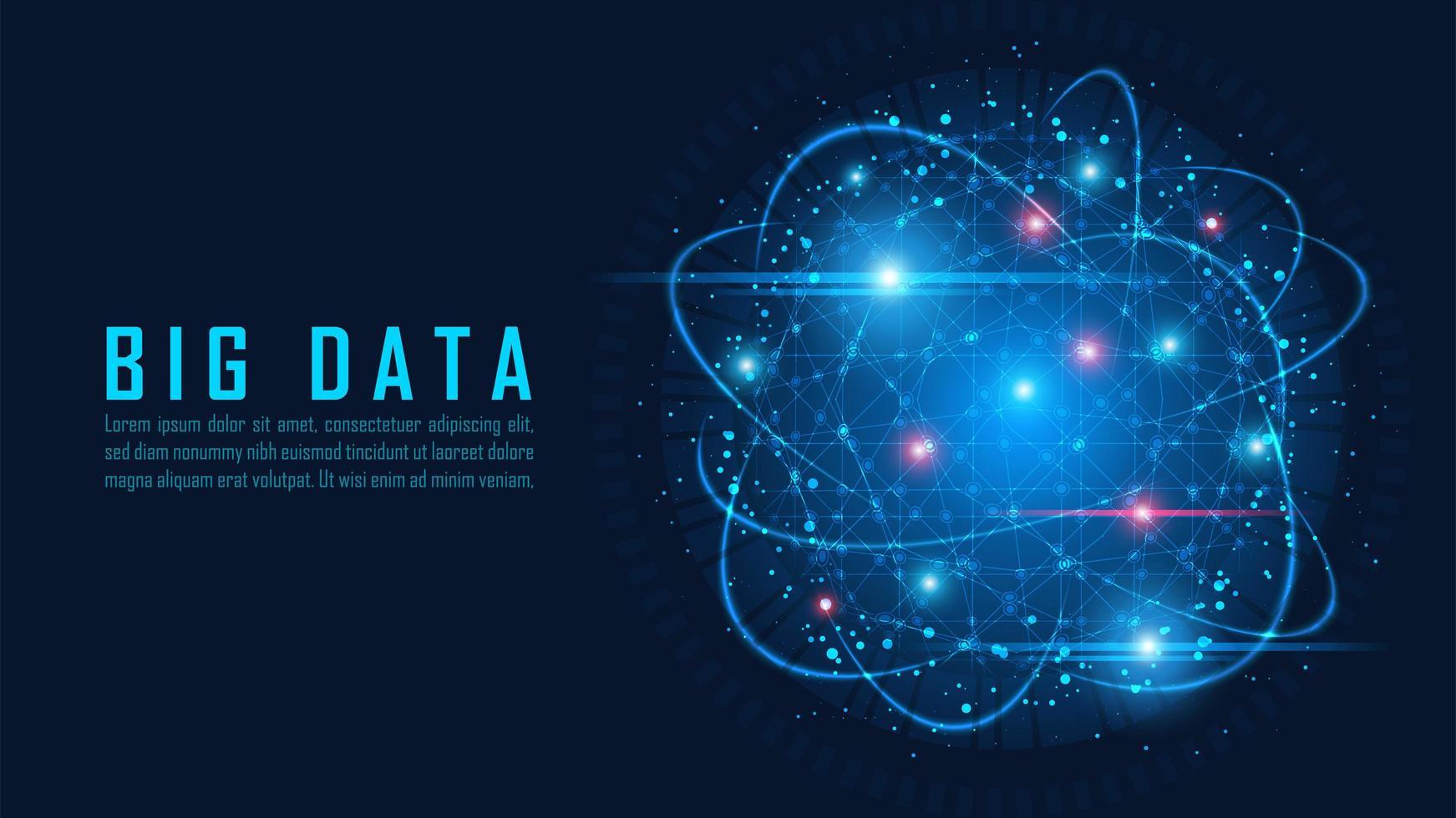 Big data visualization concept vector