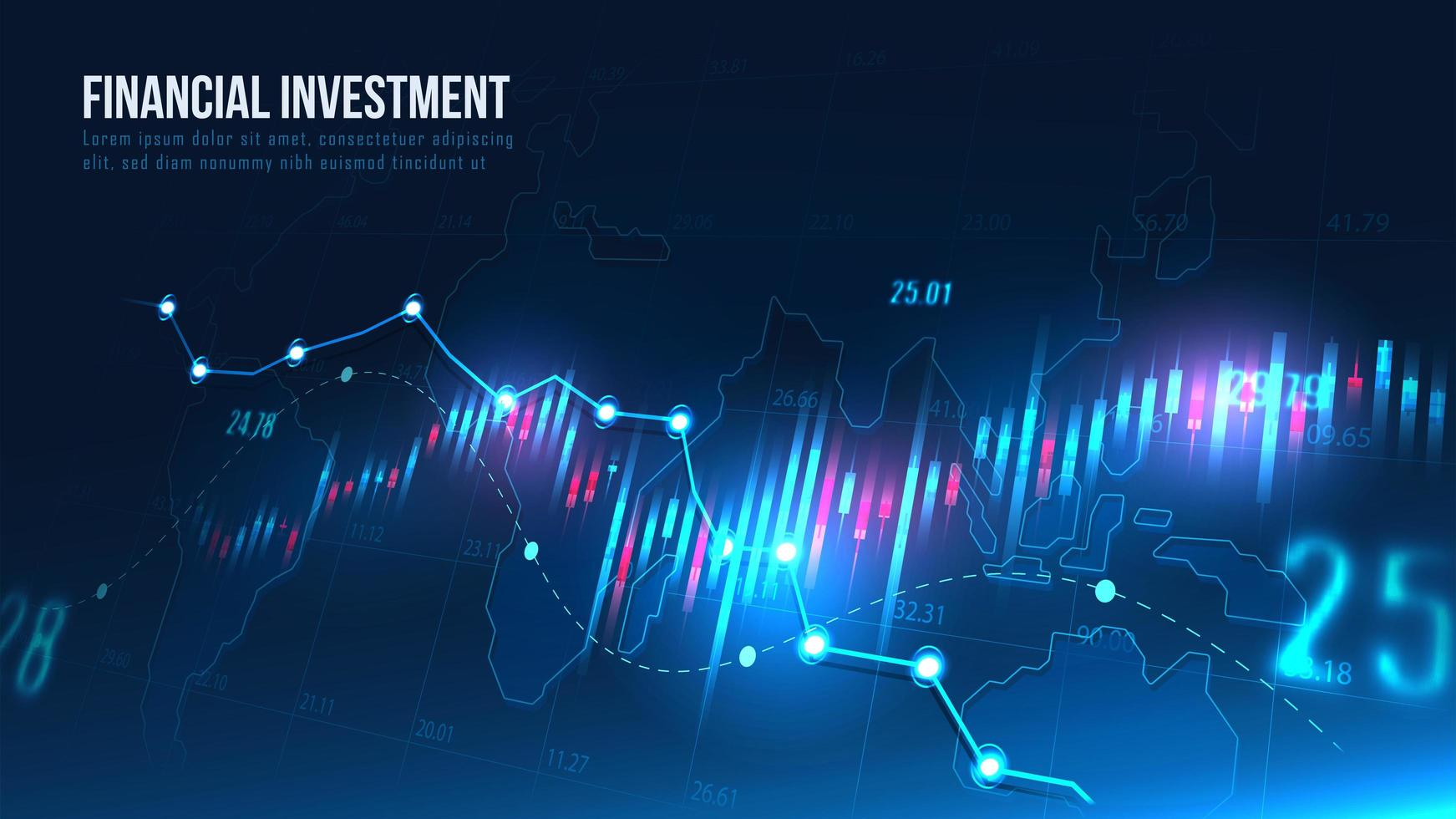 Stock market or forex trading graph vector