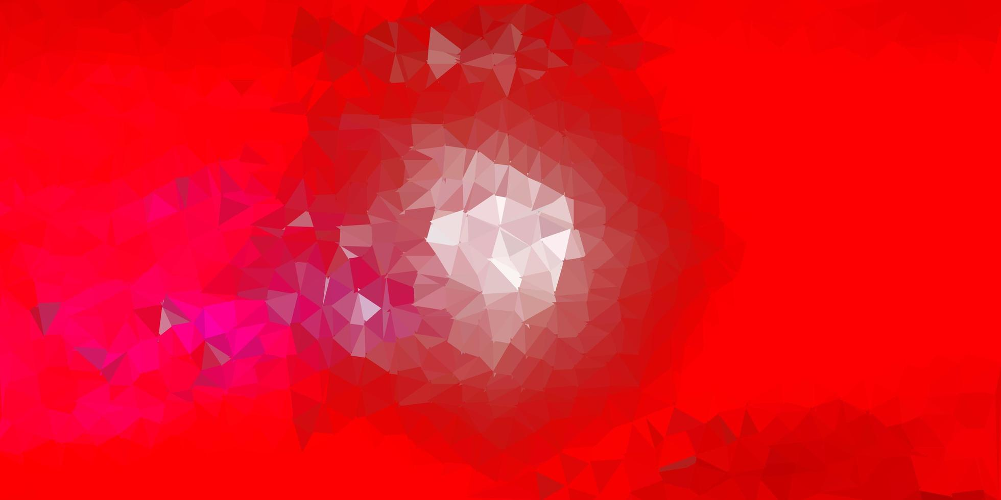 Light pink, red vector triangle mosaic design.