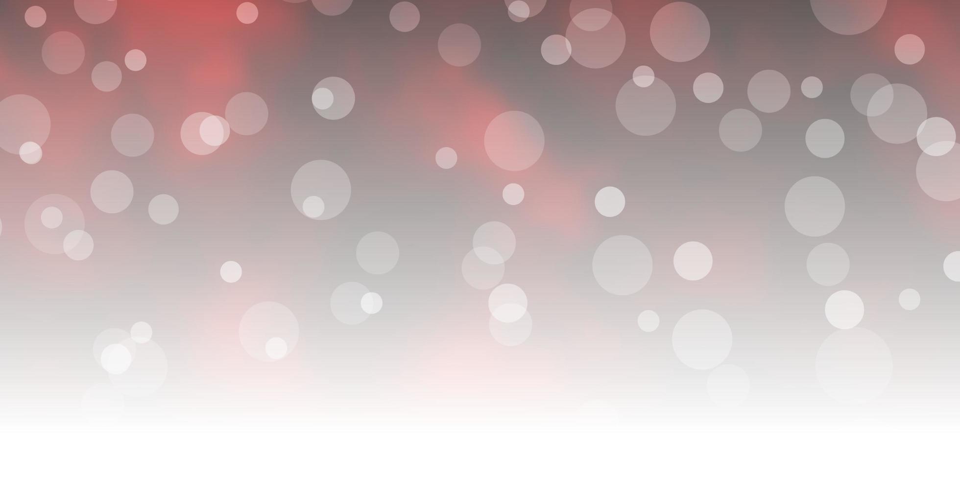 Telón de fondo de vector rojo oscuro con círculos.