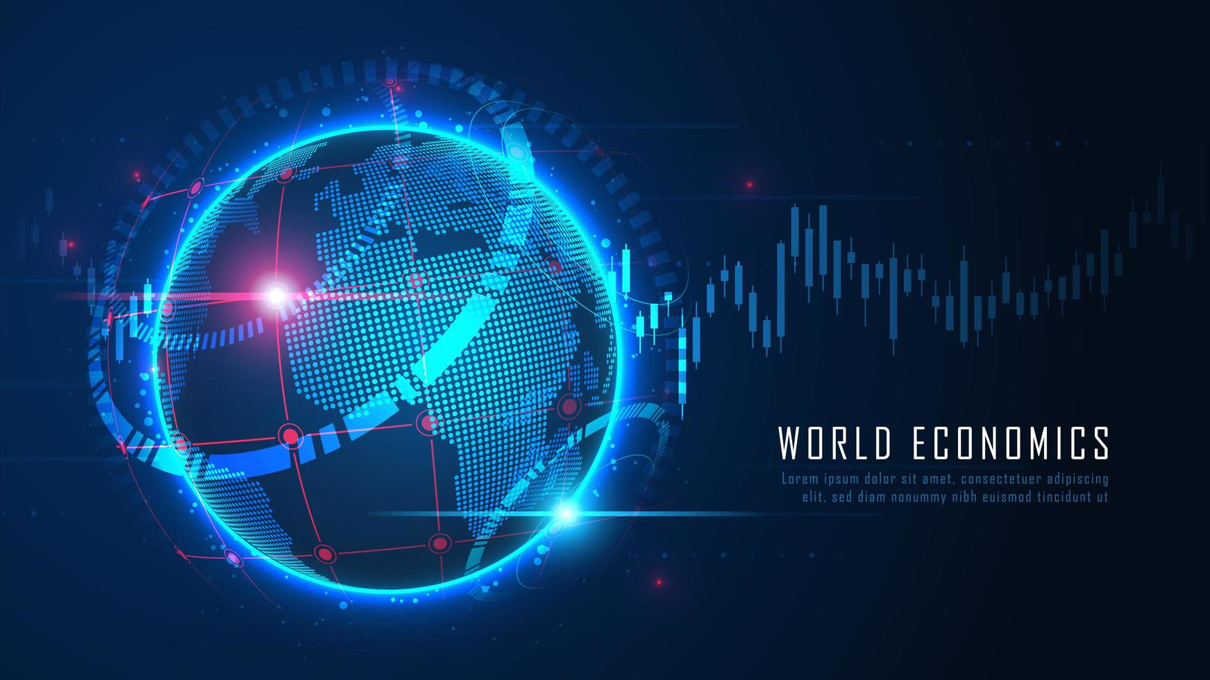 concepto financiero global vector