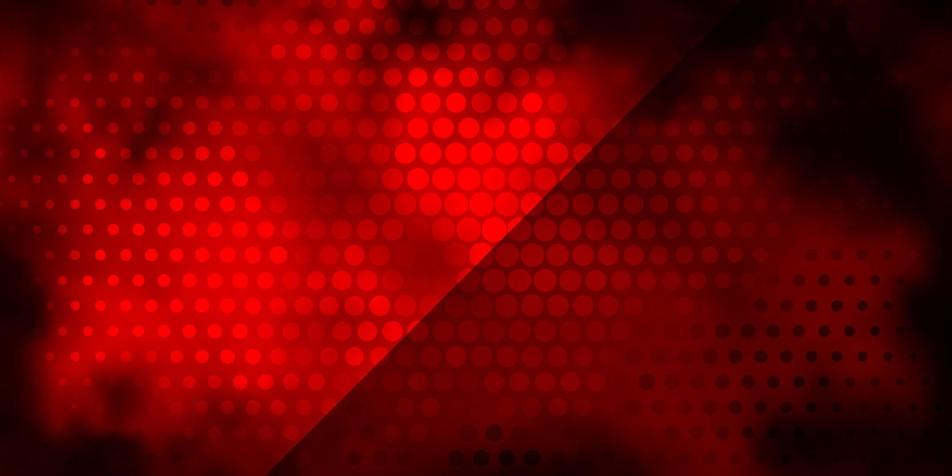 Dark Red vector backdrop with circles.