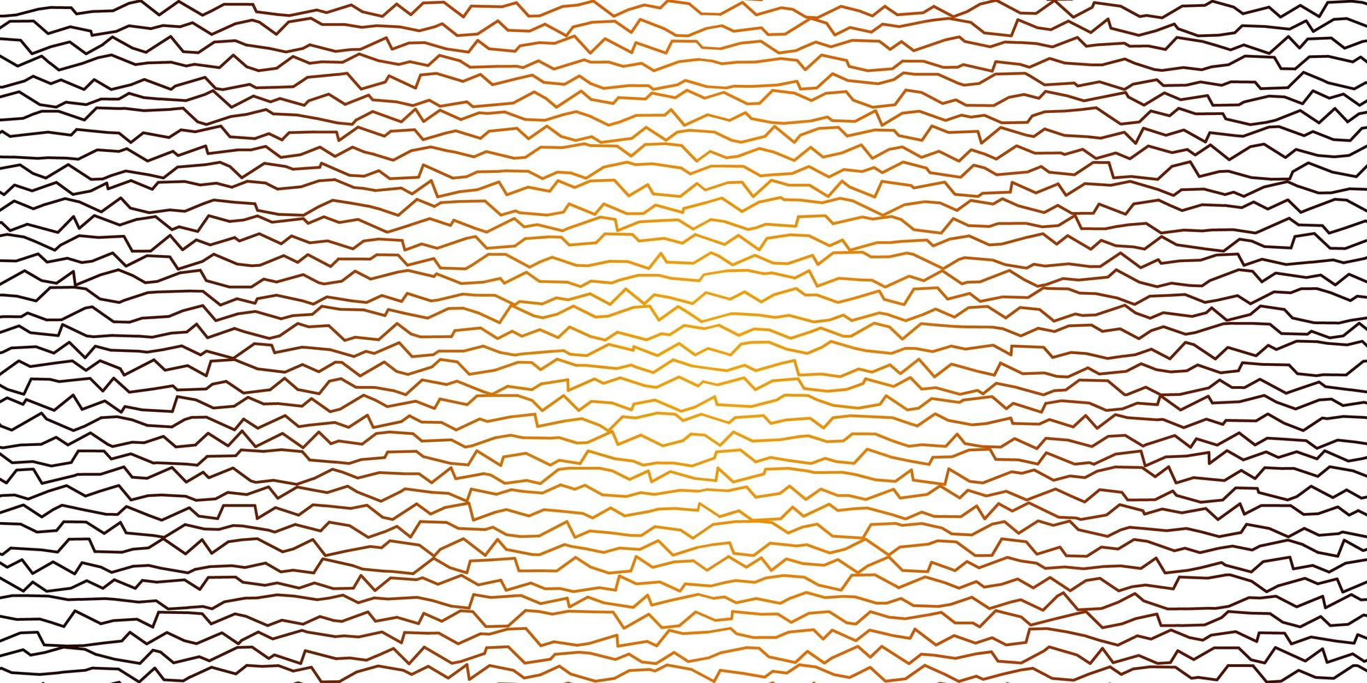 patrón de vector naranja oscuro con líneas curvas.
