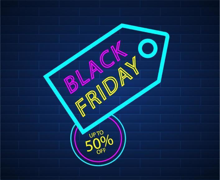 Design Abstract Black Friday vector