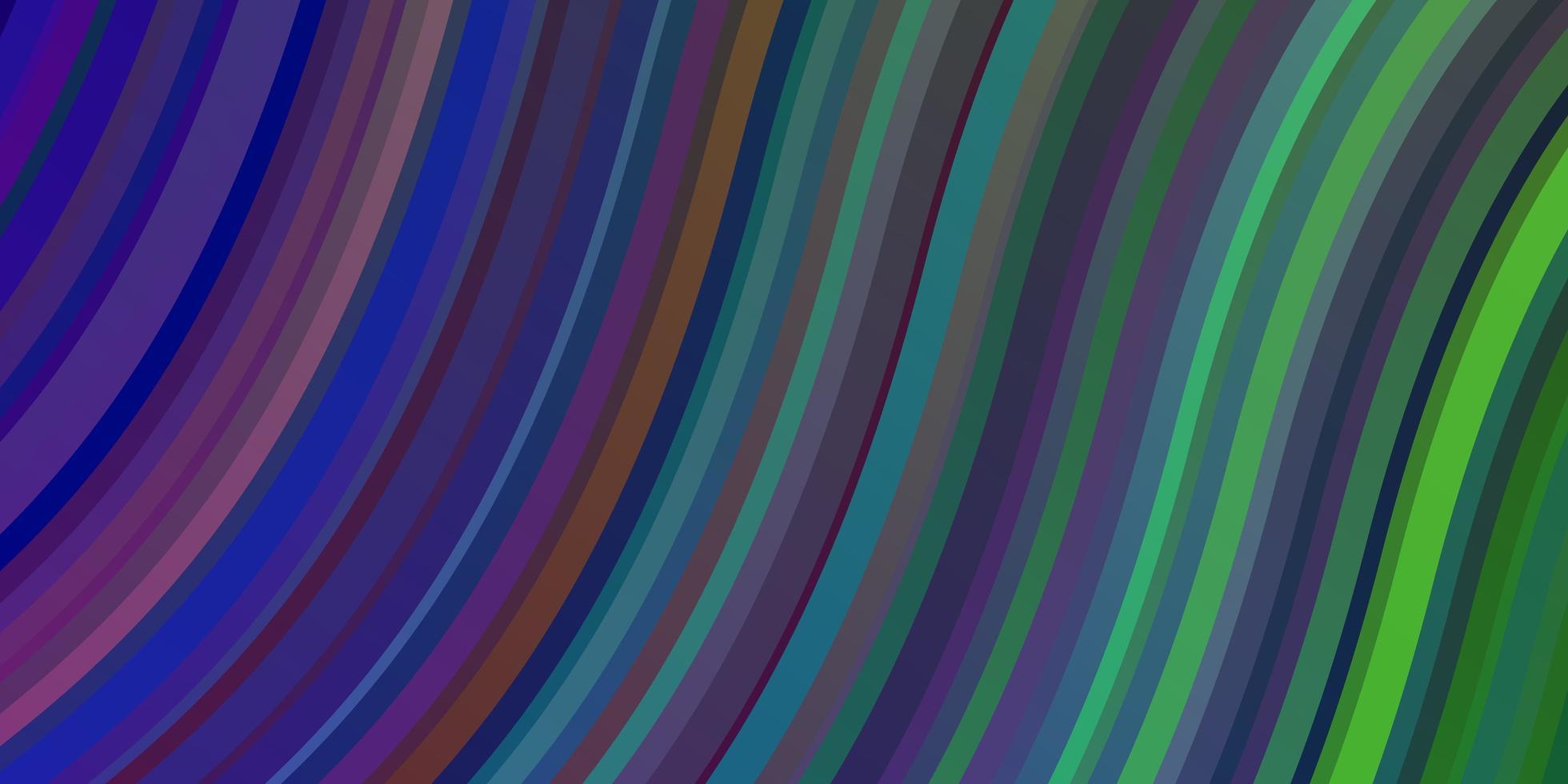 Fondo de vector multicolor claro con líneas torcidas.