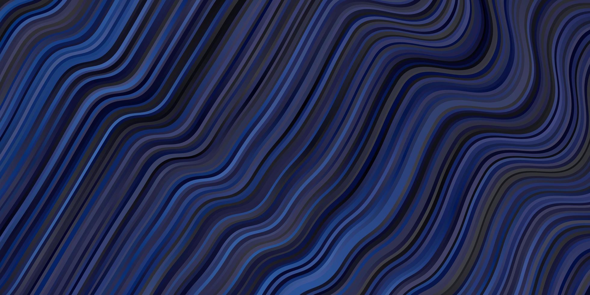 Telón de fondo de vector azul oscuro con arco circular.