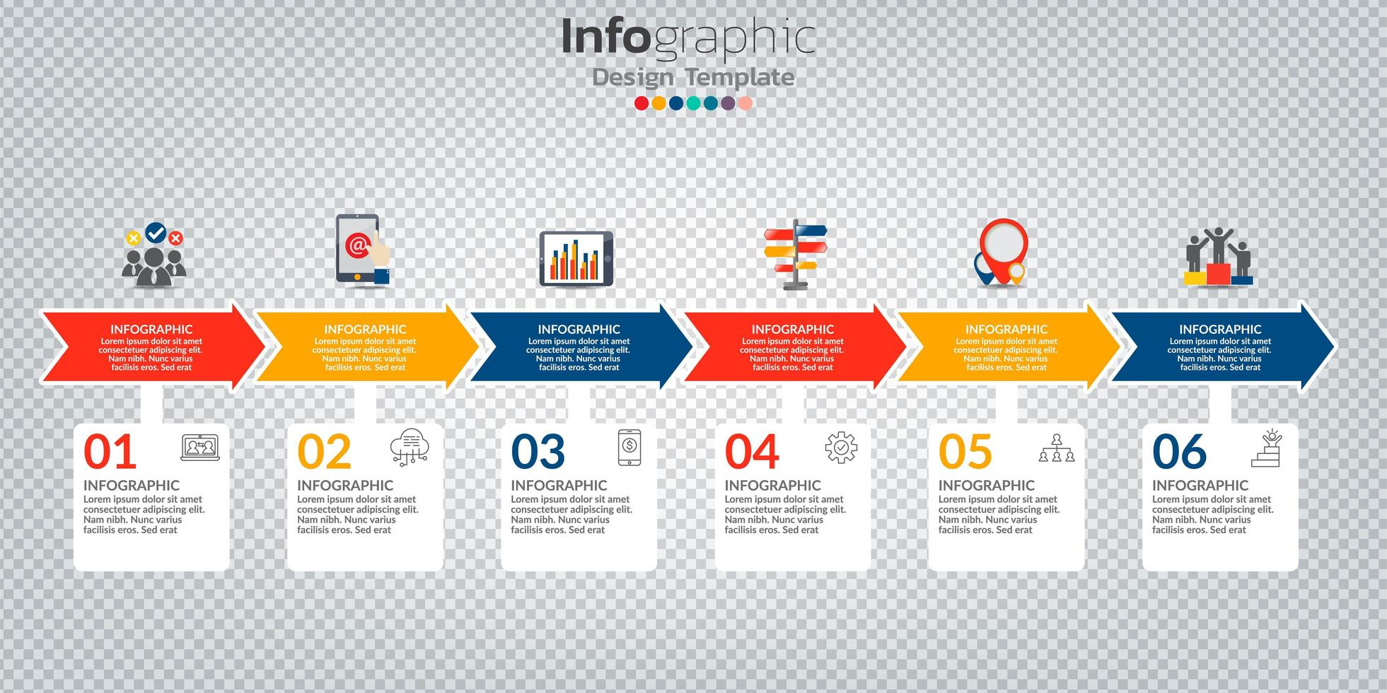 Infographic in business concept with 8 options, steps or processes. vector