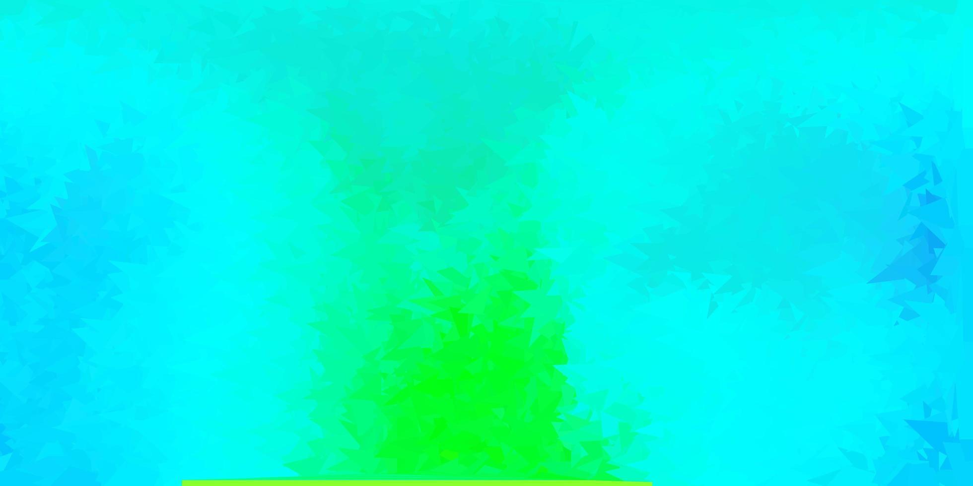 Fondo de triángulo abstracto de vector azul oscuro, verde.