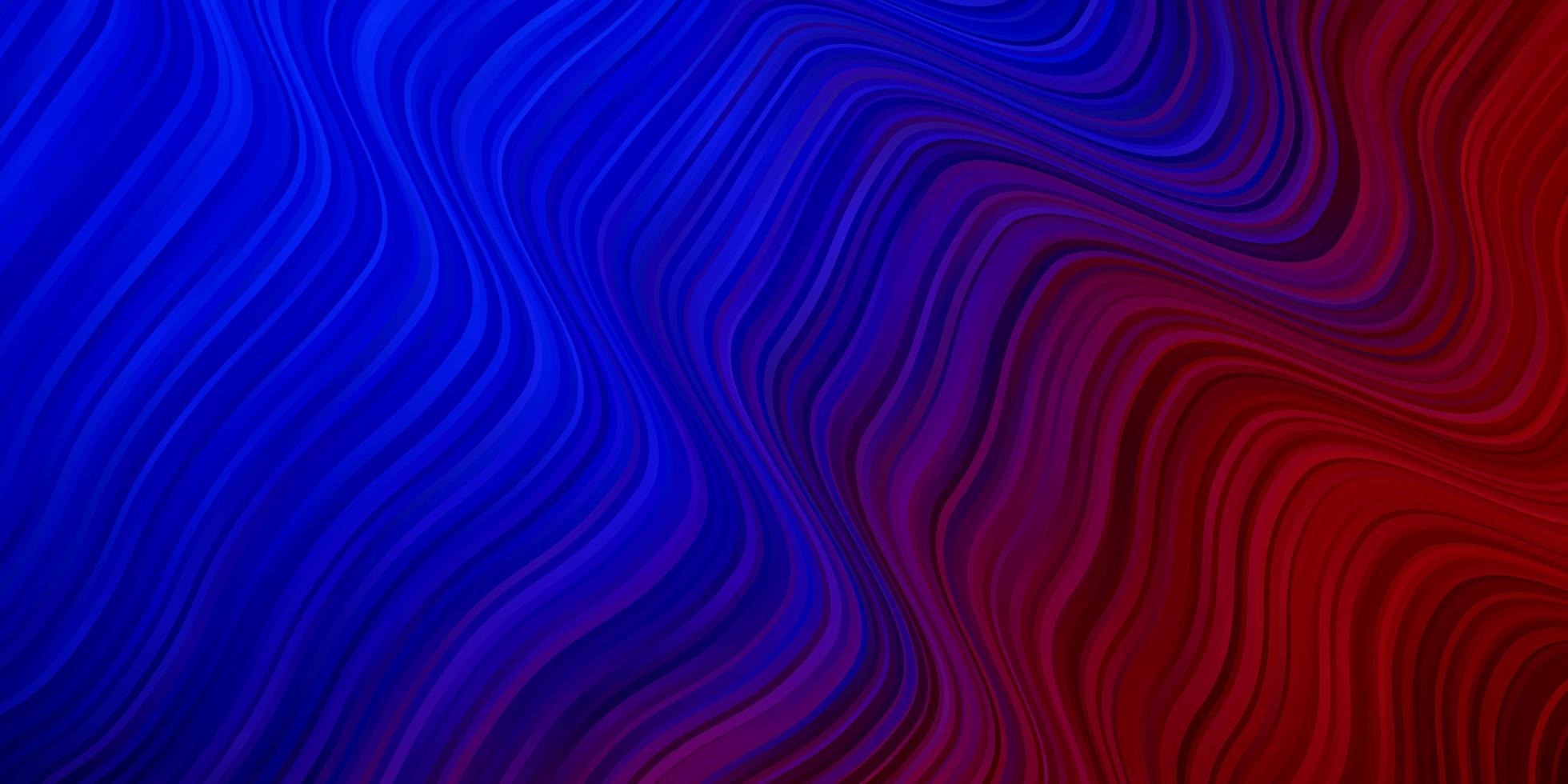 textura de vector azul claro, rojo con líneas torcidas.