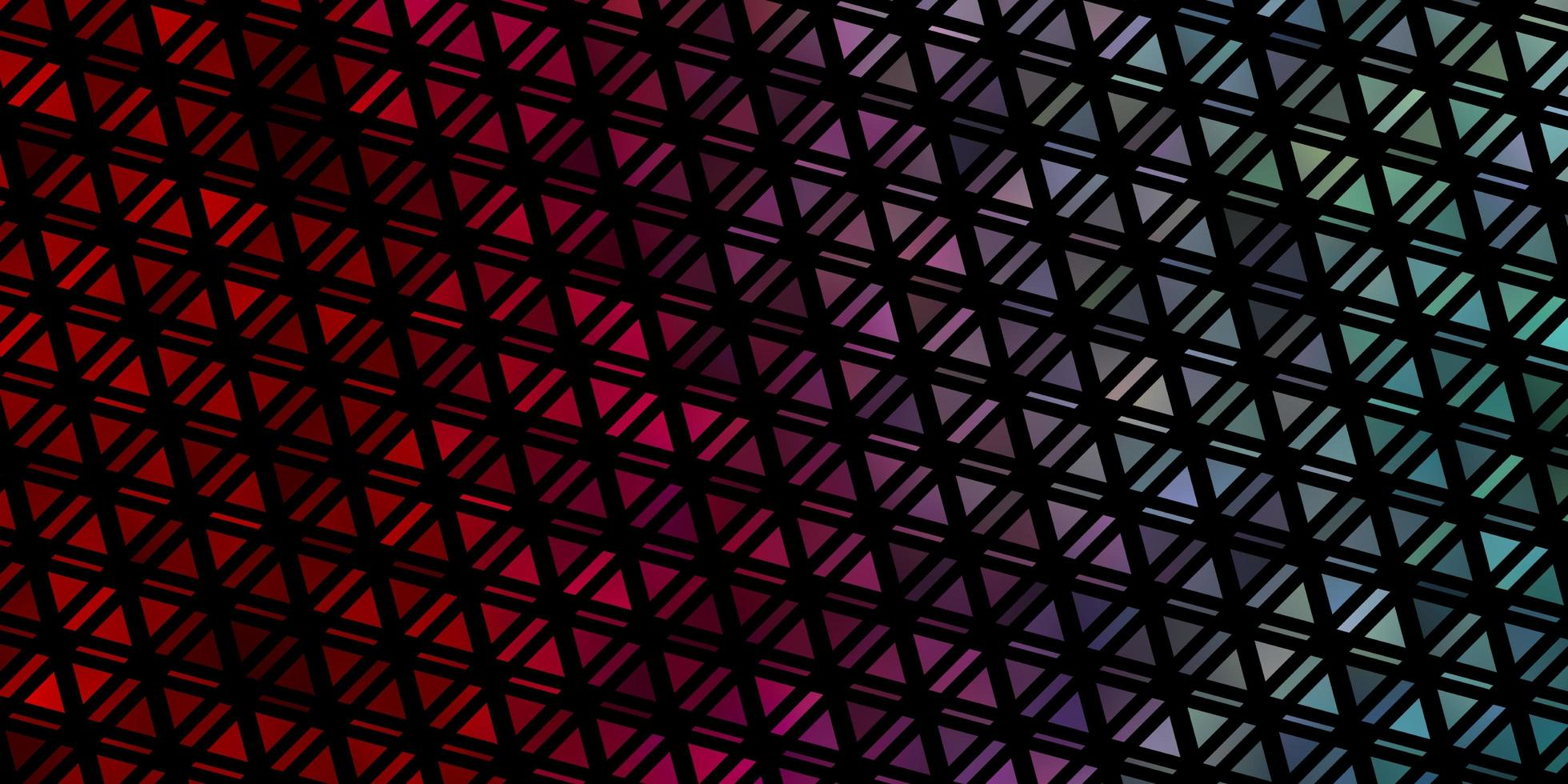 plantilla de vector azul claro, rojo con cristales, triángulos.