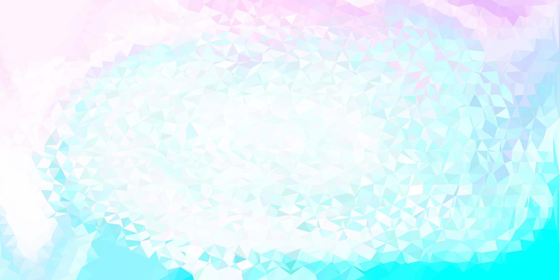 textura de triángulo abstracto vector rosa claro, azul.