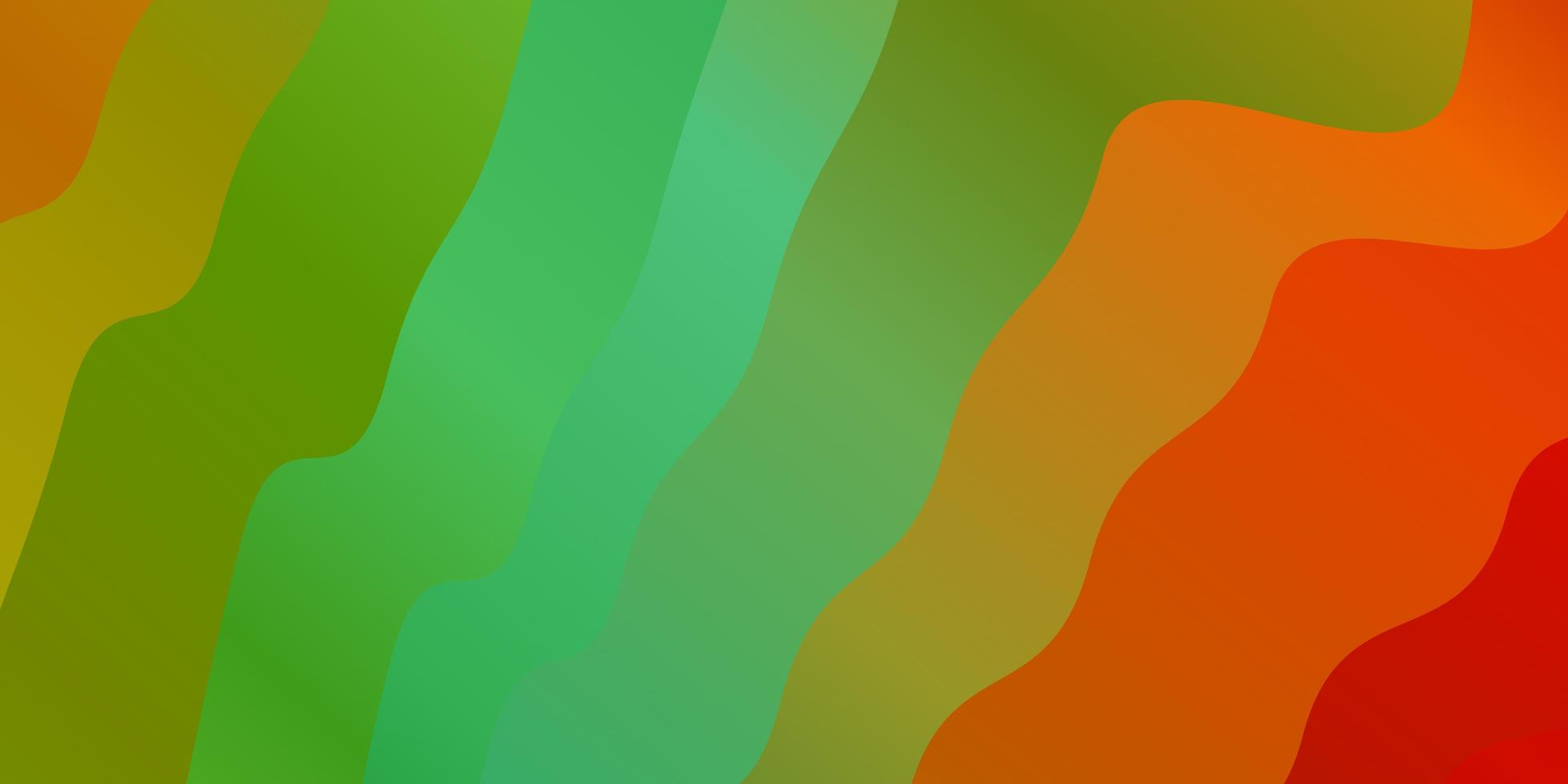 Light Multicolor vector background with wry lines.