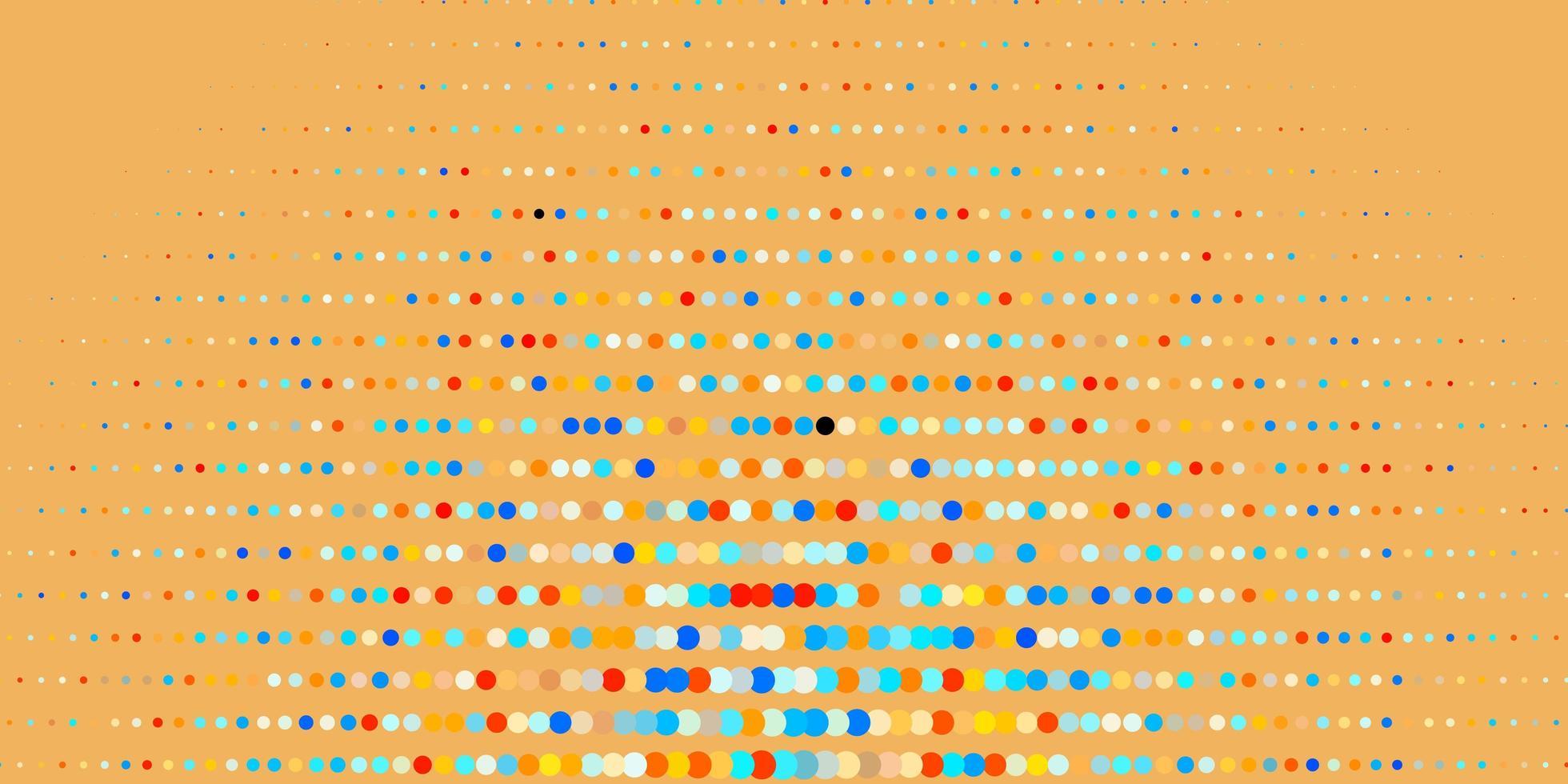 Fondo de vector azul oscuro, amarillo con puntos.