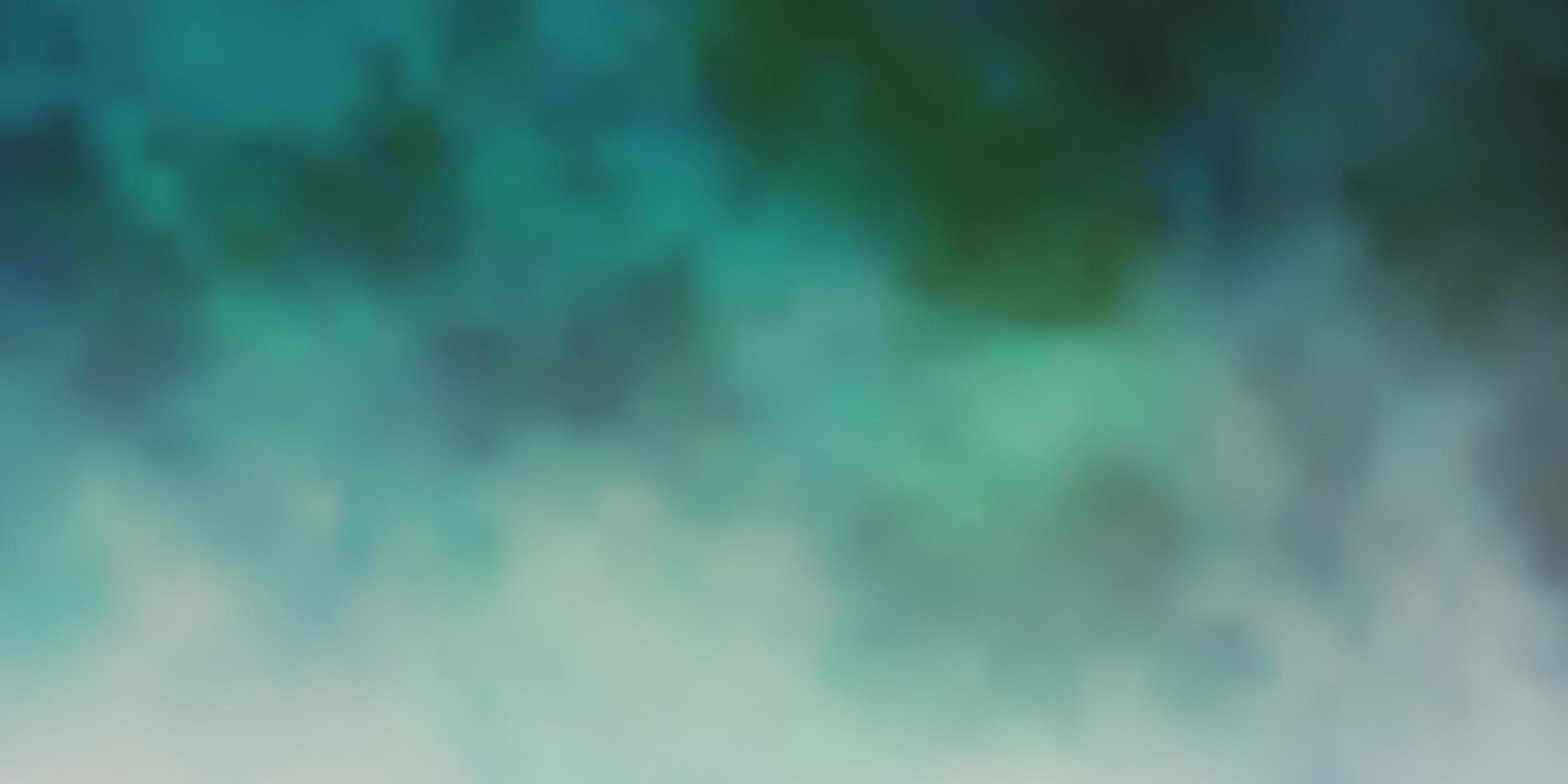 Dark Green vector background with clouds.