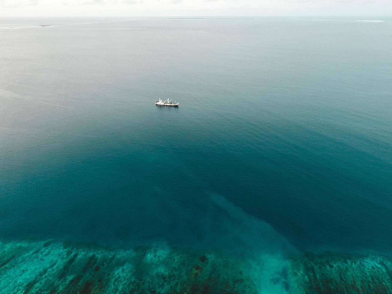 Boat on the sea photo