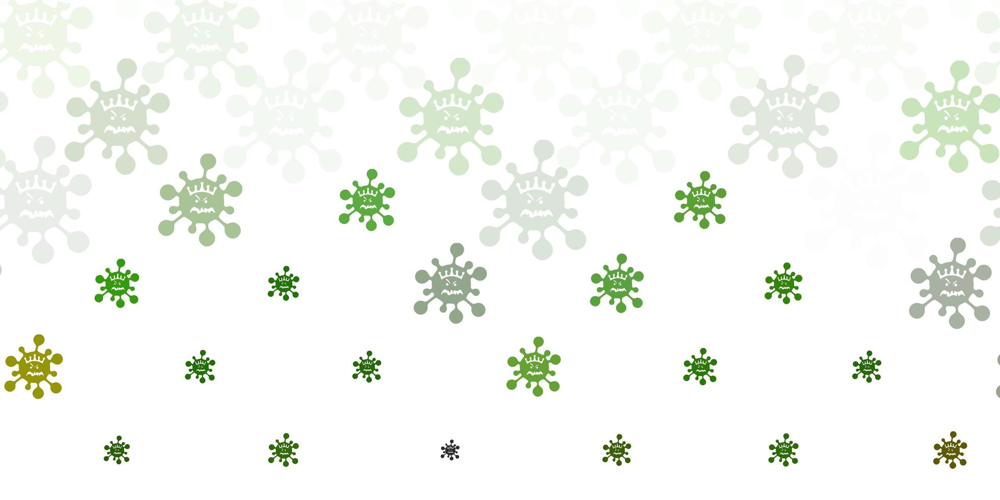 Light Green vector background with covid-19 symbols