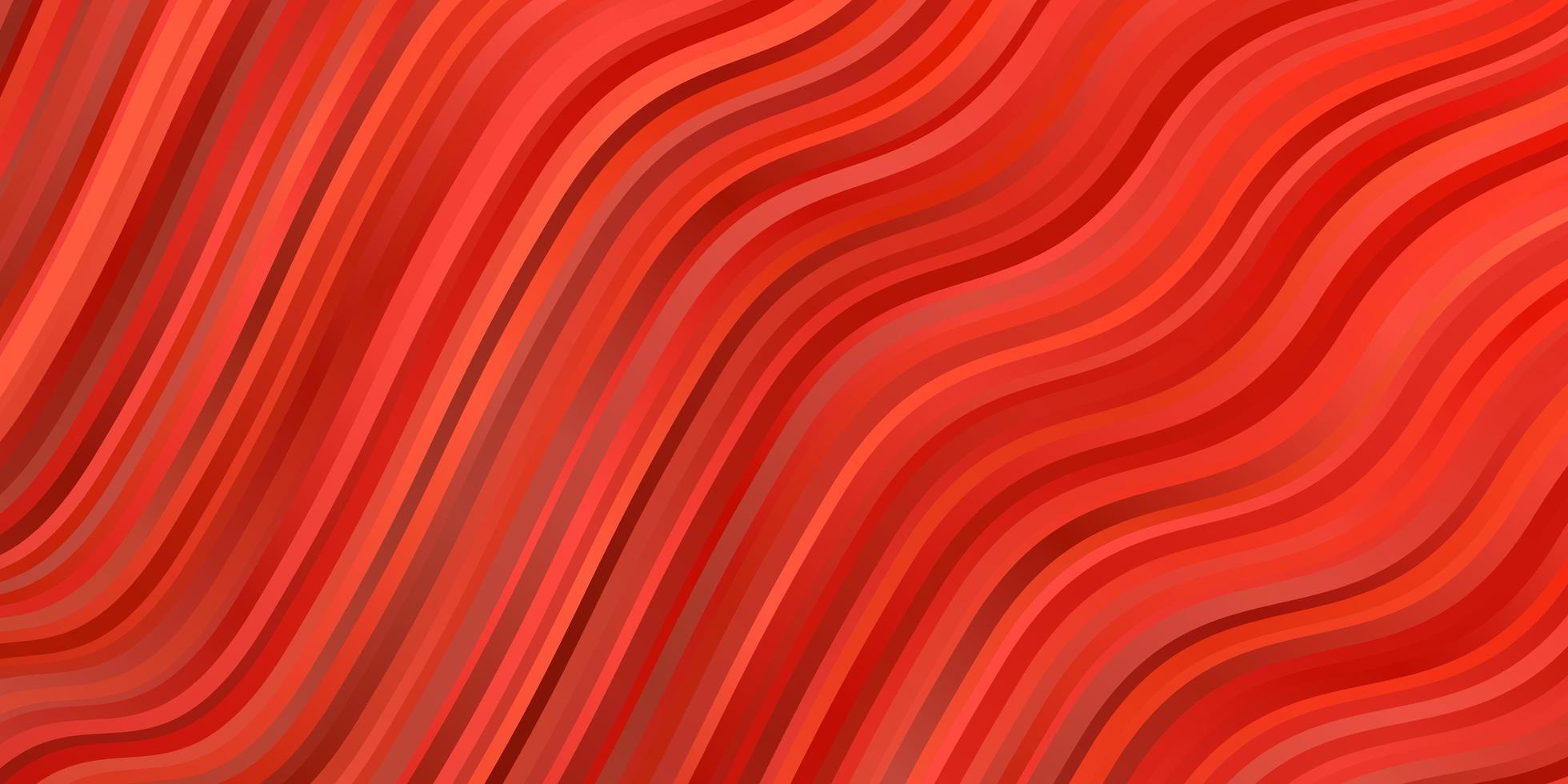 plantilla de vector rojo claro con líneas torcidas.