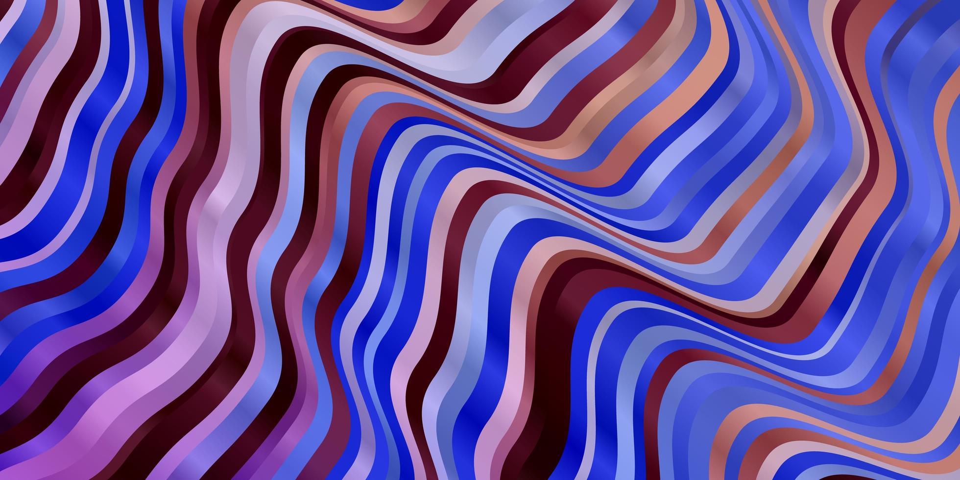 plantilla de vector multicolor claro con curvas.