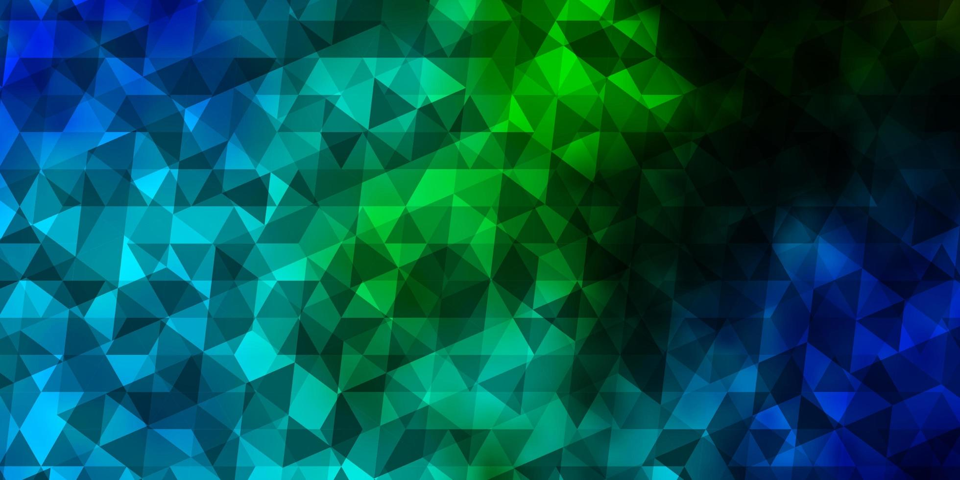 Light Blue, Green vector layout with lines, triangles.