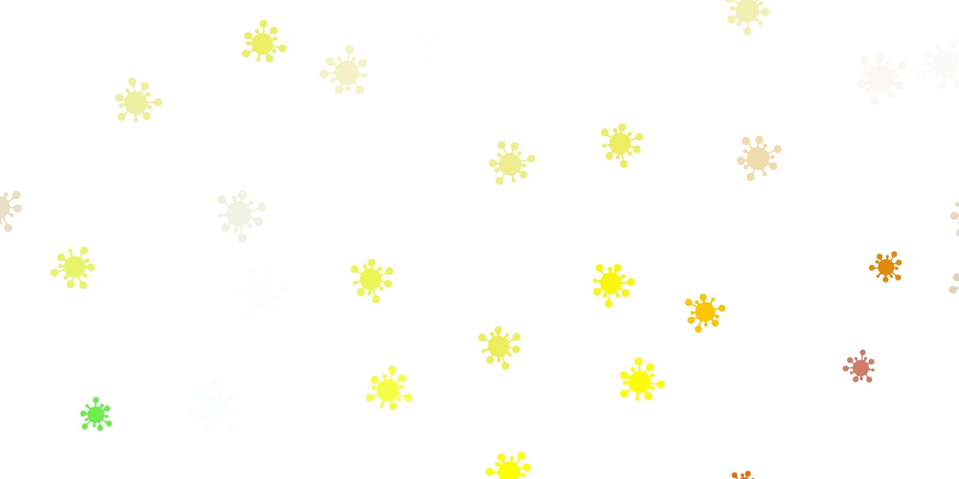 Light green, yellow vector texture with disease symbols