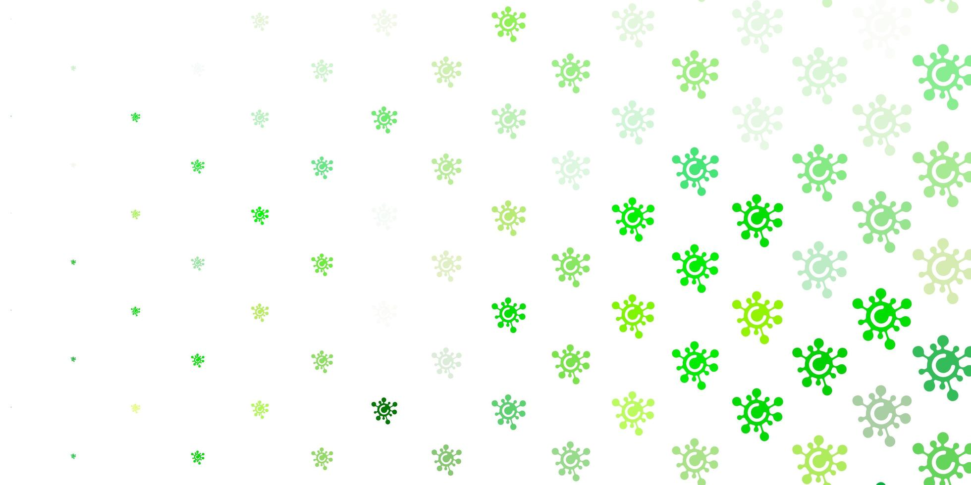 Light Green, Yellow vector template with flu signs