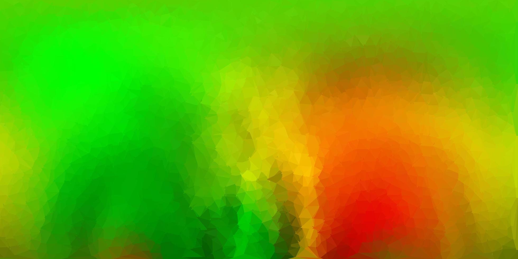 diseño de polígono degradado vectorial verde oscuro, amarillo. vector