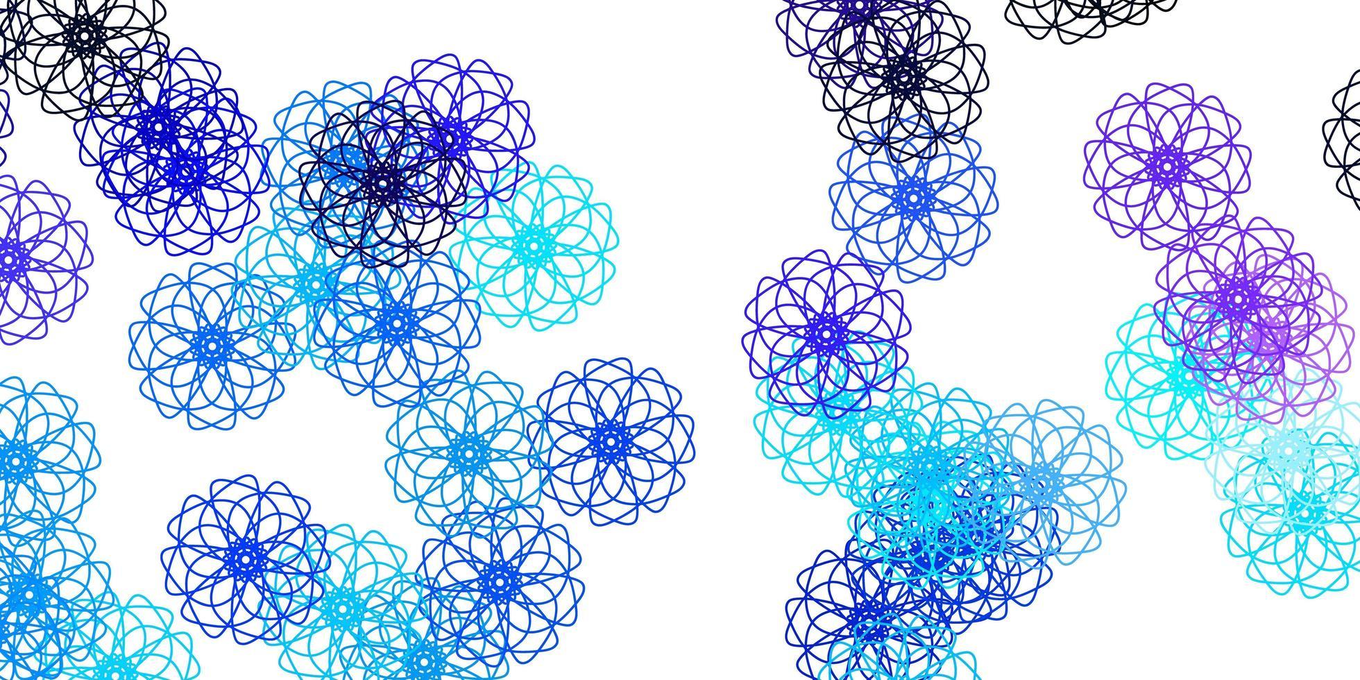 ilustraciones naturales vectoriales de color rosa claro, azul con flores. vector
