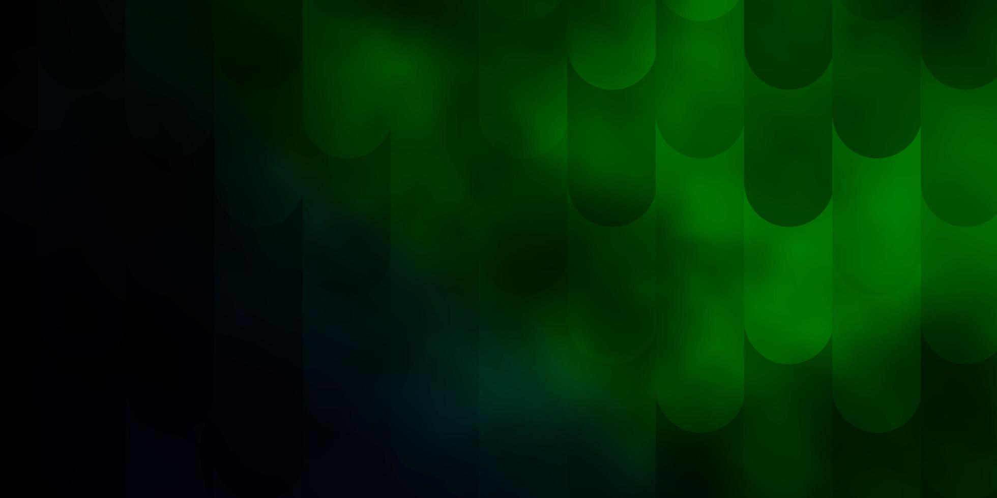 textura de vector verde oscuro con líneas.