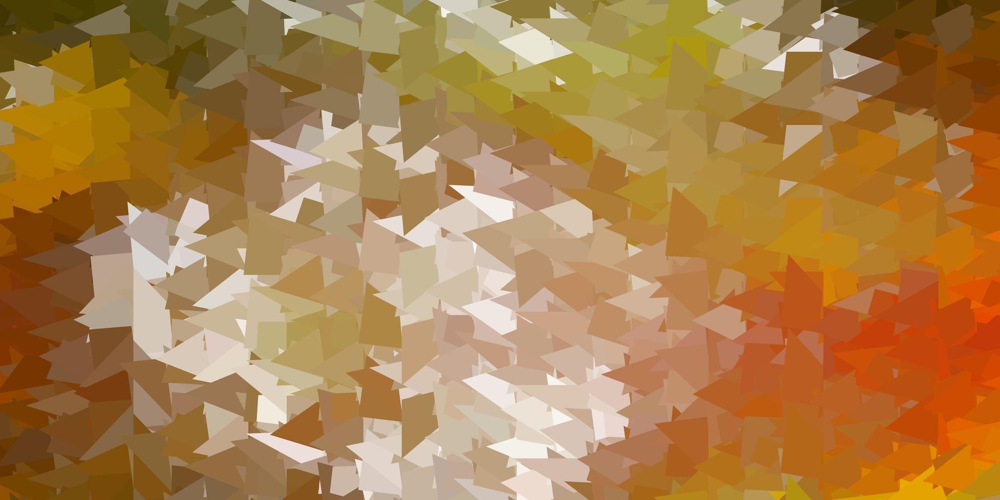 Fondo de triángulo abstracto vector verde oscuro, amarillo.