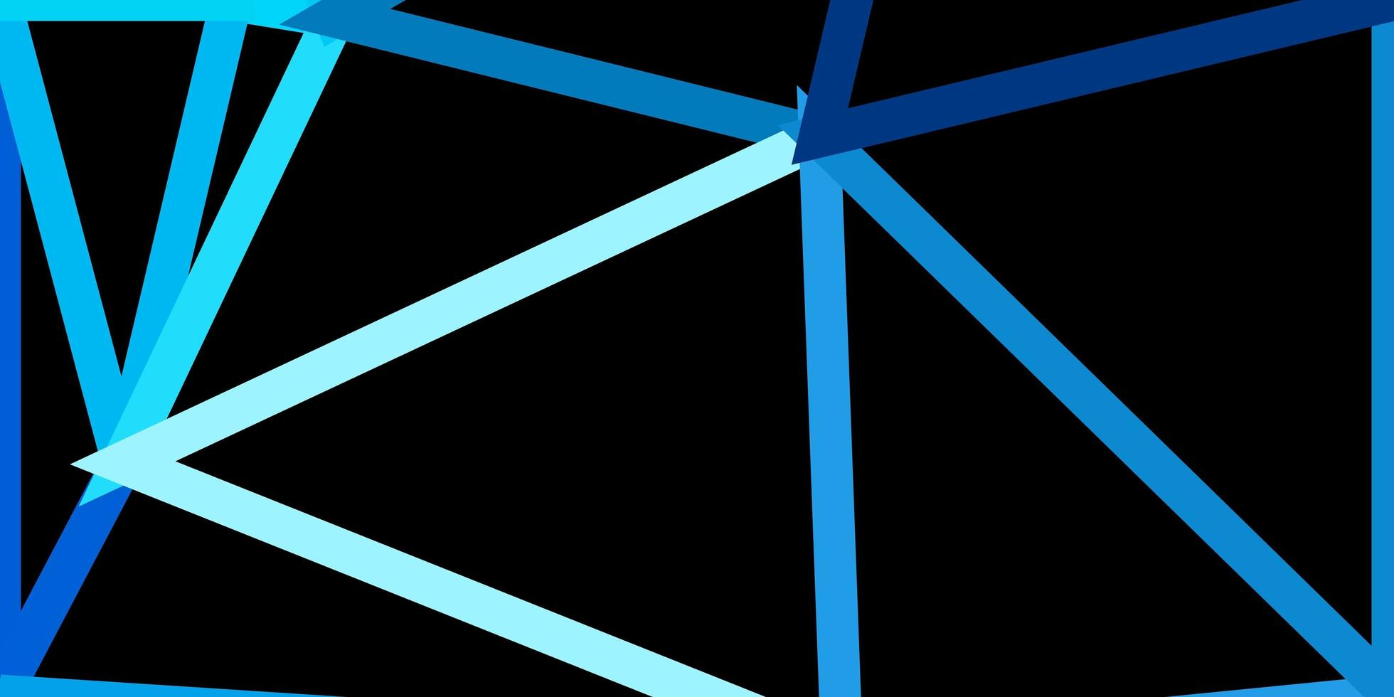 Light blue vector poly triangle layout.