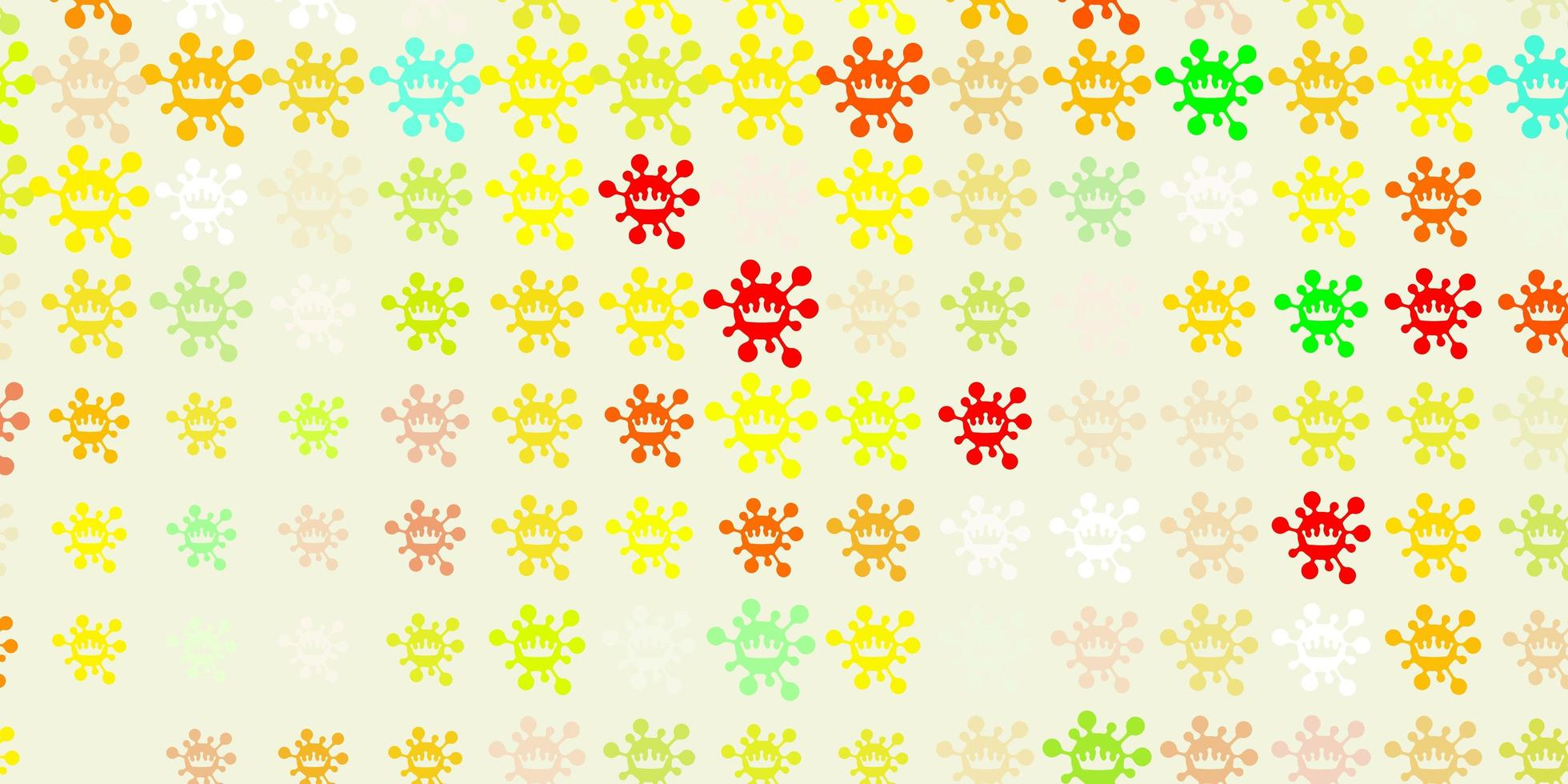 Light Green, Red vector background with covid-19 symbols