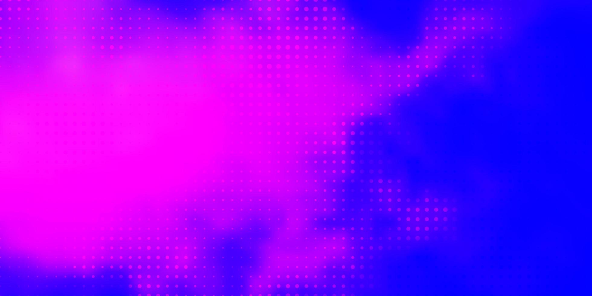 Light Pink, Blue vector pattern with spheres.