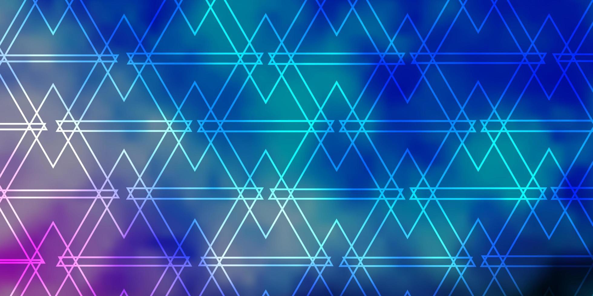 Fondo de vector azul claro, verde con líneas, triángulos.