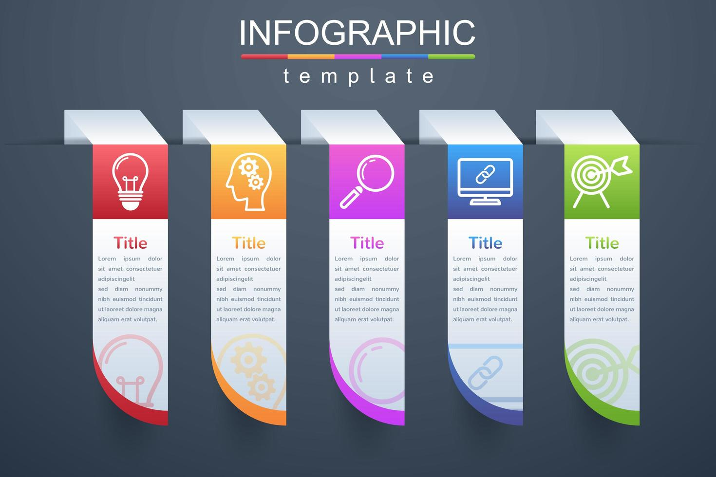 Modern infographic corporate and business template vector