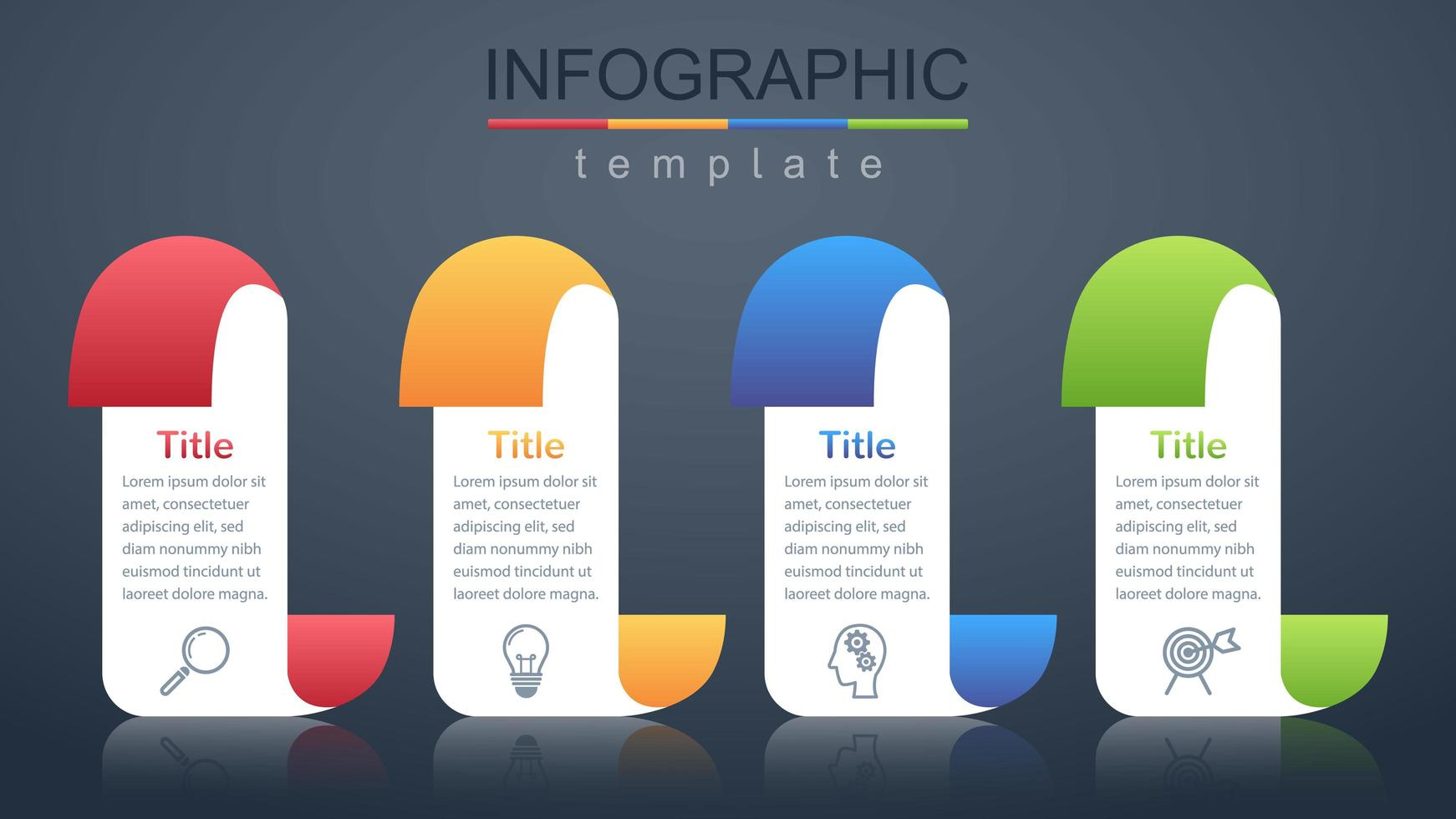 Modern infographic corporate and business banner template vector