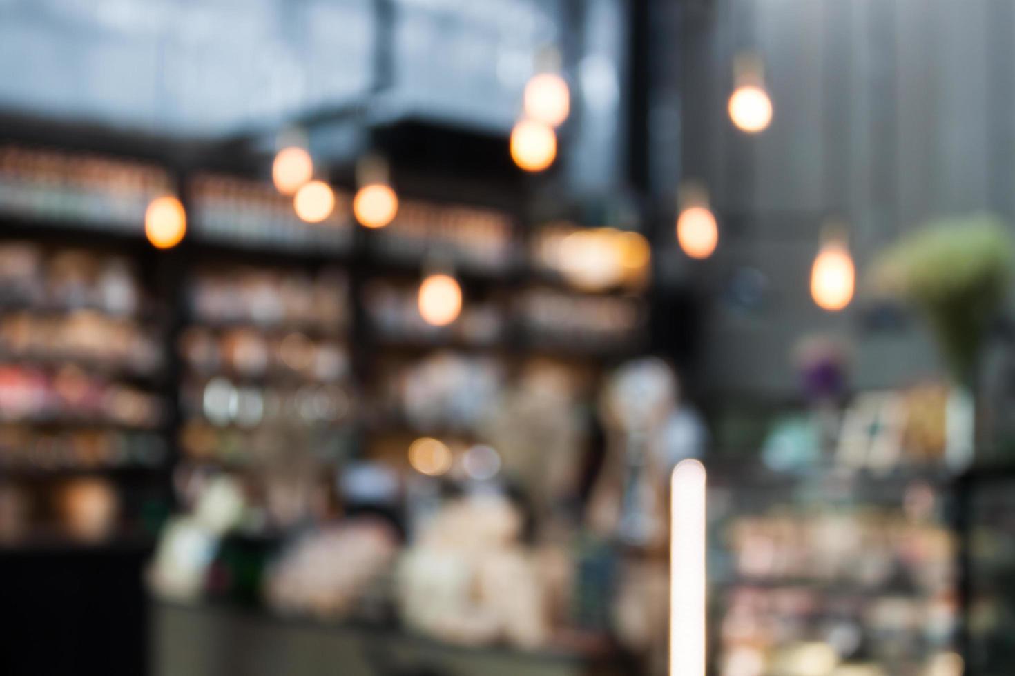 Fondo de cafetería borrosa foto