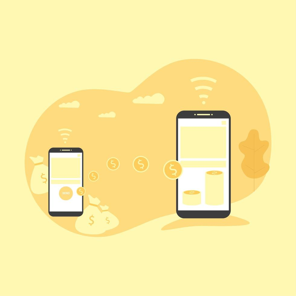 illustration of online payment vector