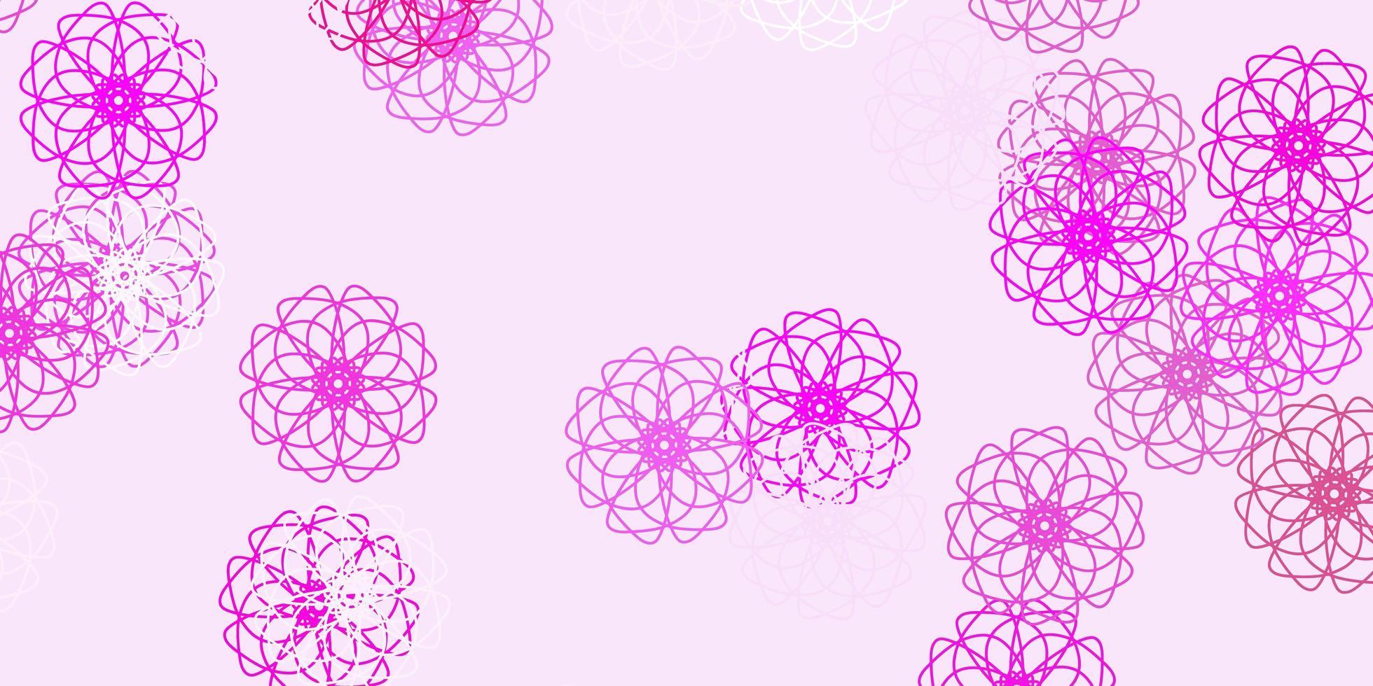 diseño natural de vector rosa claro con flores.