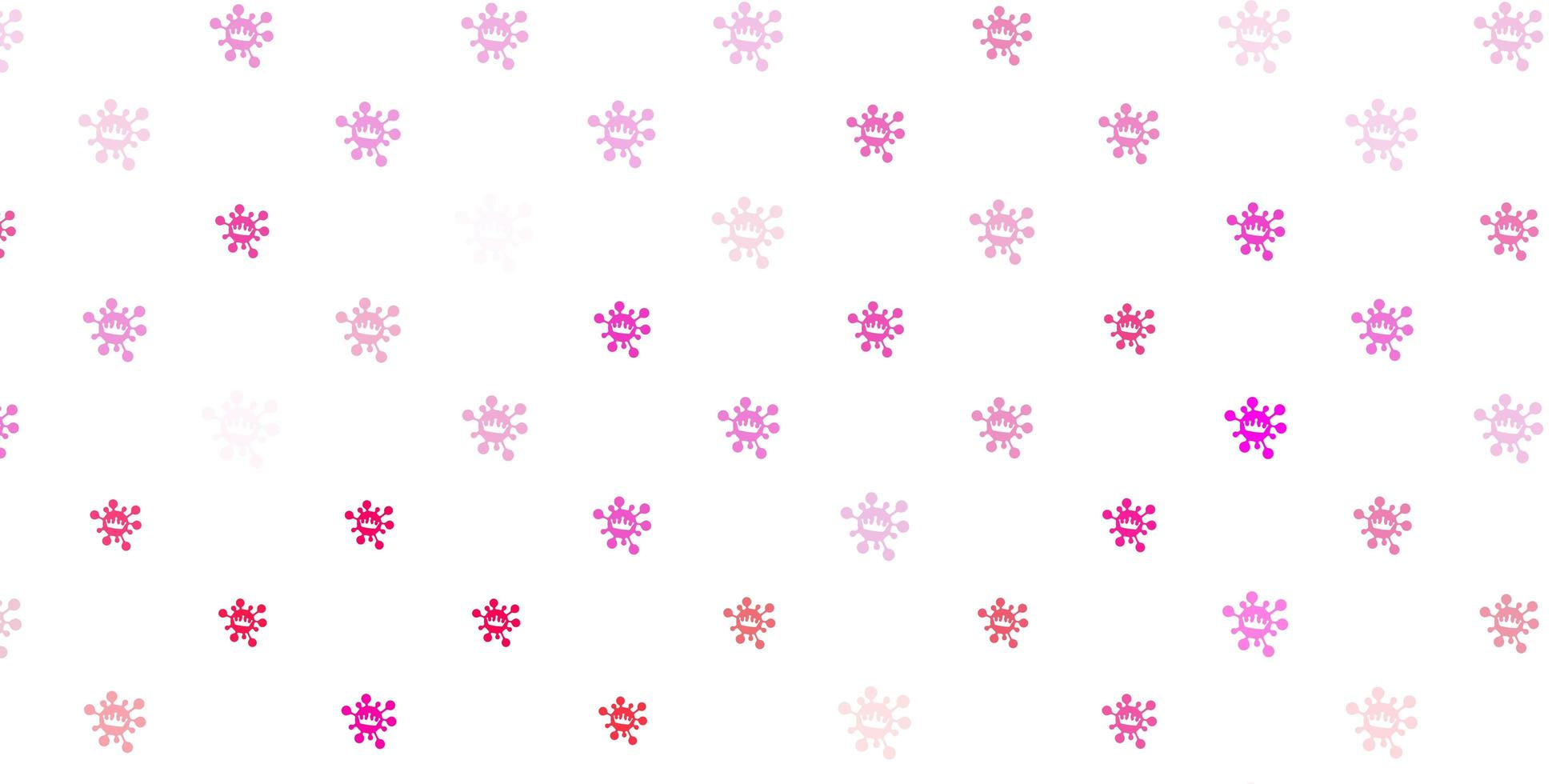 Light pink vector texture with disease symbols