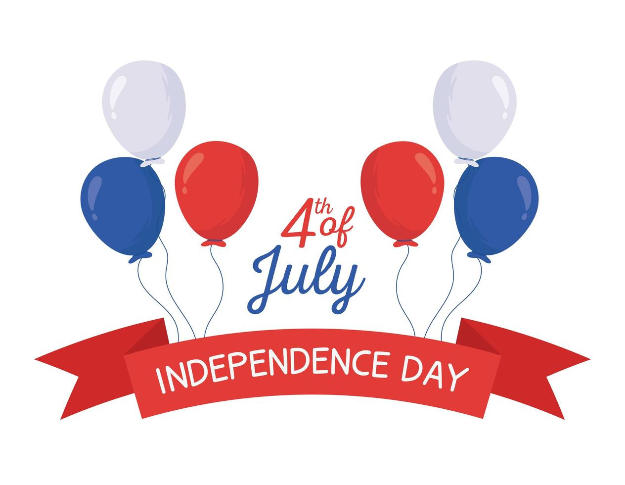 diseño vectorial de globos del día de la independencia vector