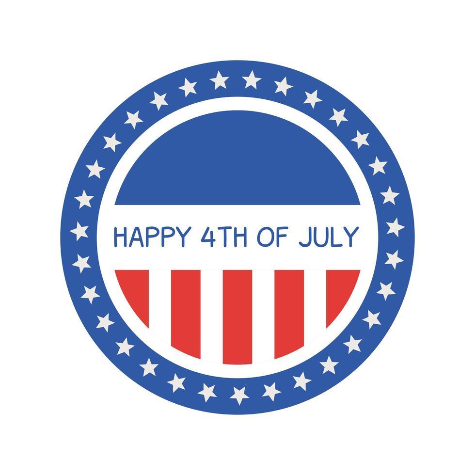 diseño de vector de sello de sello de rayas y estrellas del día de la independencia